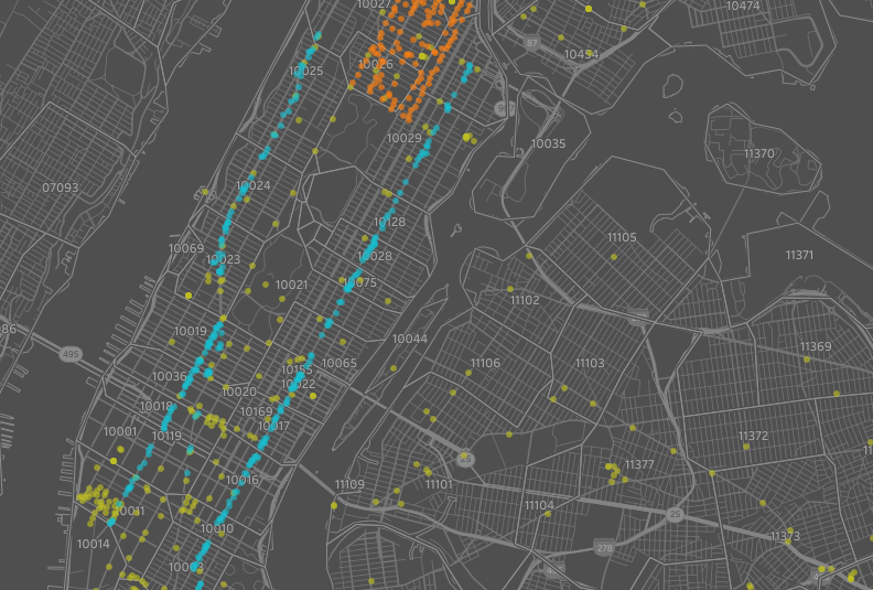 Free Wifi Nyc Map.Point Map Becoming Visual